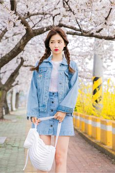 37 Women Korean Fashion For Your Perfect Look This Summer - Cute Outfits - Modetrends Fashion In, Korean Fashion Trends, Korean Street Fashion, Korea Fashion, Asian Fashion, Fashion Design, Fashion Ideas, Style Fashion, Korean Fashion Kpop