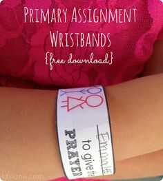 LDS Primary Wristband Reminders by Ldslane.com