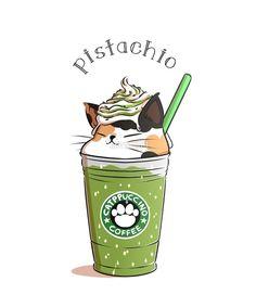 By Amcart… Elena Ray With the Amcart … Elena Ray Cute Food Drawings, Cute Kawaii Drawings, Cute Animal Drawings, Chat Kawaii, Kawaii Art, Kawaii Room, Kawaii Stuff, Kawaii Anime, Starbucks Wallpaper