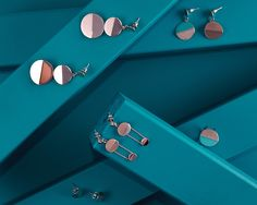Earrings and Rings from the 120Degrees Collection