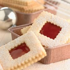 Crunchy, buttery sugar cookies filled with jam or icing.
