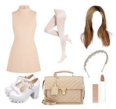 """Scream Queens inspired outfit"" by twyzter ❤ liked on Polyvore featuring Calvin Klein Collection, DKNY, Jennifer Behr, Yves Saint Laurent and Maybelline"