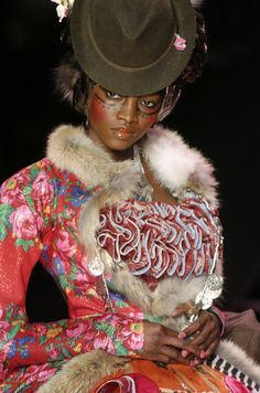 John Galliano Fall 2004 John Galliano...one of the best designers of all times, I adore his creativity and skills and his personal life or opinions...are personal. I love Galliano!!!!!Always did ,always will!