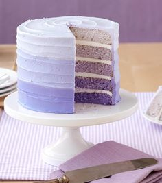 Violet Ombre Cake with 5 Layers // Baby Shower Cake Ideas from Joann.com