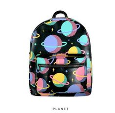 Planets Leather Mini Backpack from BKBT Concept. Saved to Bags. Shop more products from BKBT Concept on Wanelo. Galaxy Backpack, Mini Backpack, Backpack Bags, Leather Backpack, Leather Bags, Cute Backpacks, School Backpacks, Gyaru, Harajuku