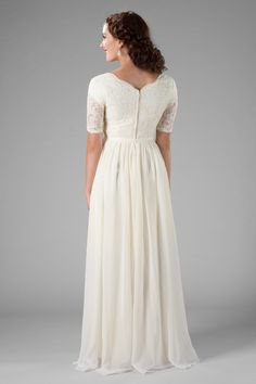 cheap modest wedding dresses, the Paloma at Latter Day Bride in ivory Western Wedding Dresses, Classic Wedding Dress, Princess Wedding Dresses, Modest Wedding Dresses, Perfect Wedding Dress, Designer Wedding Dresses, Bridesmaid Dresses, Dressy Dresses, Dream Wedding