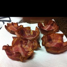 Bacon bowls...everything is better when cradled in bacon!!!