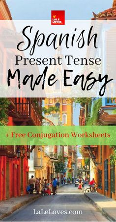Spanish Present Tense Made Easy - Free Conjugation Worksheets Teach Yourself Spanish, Learn Spanish Free, Learn To Speak Spanish, Learn Spanish Online, Study Spanish, Spanish Lessons, Spanish Class, Spanish Notes, Spanish Grammar