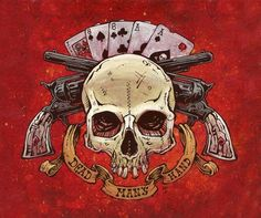 Day of the Dead Artist David Lozeau, Dead Man's Hand, Wild West Art, David Lozeau Dia de los Muertos Art