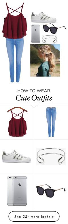 """""""Geen titel #57"""" by beau99 on Polyvore featuring Paige Denim, Giles & Brother and adidas Originals"""