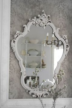 Shabby Chic ~ Momma what did you do with the mirror that I used to have in my room exactly like this since I was little!!!