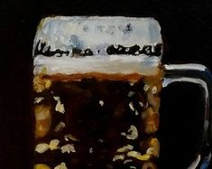 Beer by MariaTepperPaintings on Etsy Freshly Baked, Natural Light, Art Pieces, Etsy Seller, Beer, Paintings, Ethnic Recipes, Root Beer, Ale