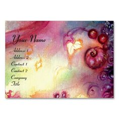 GARDEN OF THE LOST SHADOWS / MAGIC STAIRS pink red Business Card