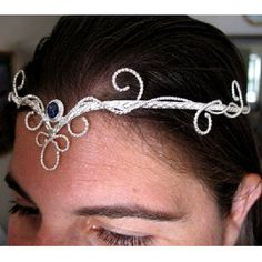 Celtic Spiral Elven Wedding Circlet Headpiece with by Camias