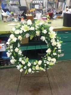 All white Tribute Wreath