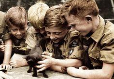 German boys with kitten by Julia-Koterias