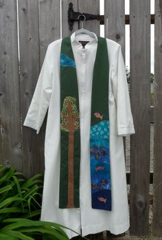 Clergy stole in Green for creation season