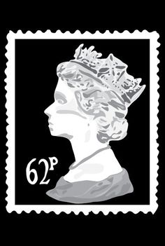 Queen Stamp 24X36 Poster by MENINAMENINA on Etsy, $40.00
