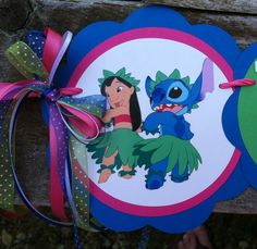 Lilo and Stitch birthday banner Lilo and by MerryMakersPapier, $26.00