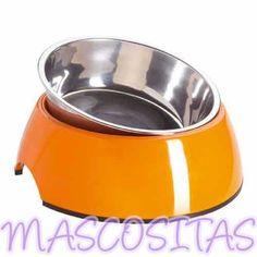 Comedero HUNTER Melamina. Fabricado en acero inoxidable y melamina, lo que le confiere una gran resistencia, antideslizante, apto para el lavavajillas, diferentes colores.
