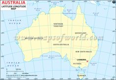 Map Of Australia Longitude And Latitude Lines.12 Best Australian Geography Images Geography Lessons School