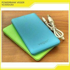 Kode:  PB1278-PB1282  Power Bank VEGER Type V41 - Design : Slim - Kapasitas 10.000 Mah ( Real Capacity ) - Input : 5V 1000 mA - Output : 5V 1000 mA - Suport Hp Iphone 6 - Ultra Light - Low Temperature - True Full Cell - Candy Color  Dimensi : 11.5 x 6.5 x 0.8 cm  Warna : Hijaubiruputihmerahhitam  Harga:  75.000  Order  Line:  @ AZZAGADGET (PAKAI @ YA) Whatsapp: 081357776262  #powerbankveger #powerbankvegermurah #powerbankveger10000mah #powerbankveger20000mah #powerbankvegertermurah…