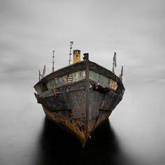 Trevor Cotton - Respect  (An abandoned old ferry the 'Vadne', which used to carry passengers from Gosport to Portsmouth in the 1950's.