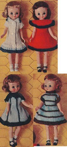 Vintage Knitting PATTERN to make  Betsy McCall Doll Clothes 8 NOT a finished item This is a pattern andor instructions to make the item only *** Visit the image link more details. Note:It is affiliate link to Amazon.