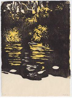 Eva Pietzcker. Autumn Island. 2010. Japanese woodblock print image (moku hanga)