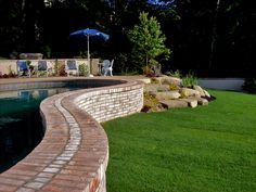 brick walls landscaping ideas pictures | ... Design landscape construction brick veneer stone steps stucco walls