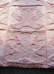 Free Knitting Pattern - Baby Blankets & Afghans: Teddy Bear Baby Blanket