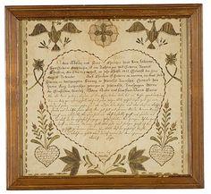 Pennsylvania Fraktur with Hearts and Eagles, (2007 FallAmericana:Fine&DecorativeArts, Oct 12&13)