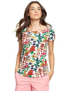 Easy Printed Tee WL925 Short Sleeved Tops at Boden