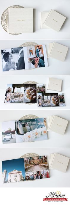 Albums Remembered offers professional at affordable prices. With each album purchasing, it includes with unlimited revisions. Wedding Photo Album Book, Wedding Album Layout, Wedding Album Design, Wedding Photo Albums, Wedding Photos, Printing And Binding, Wedding Keepsakes, Elegant Wedding, Business Ideas