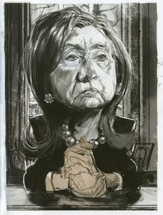 Tom Fluharty ' Hillary Clinton' ILLUSTRATION ART