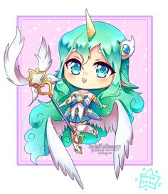 Chibi Comm: Star Guardian Soraka by OrbitalSwan