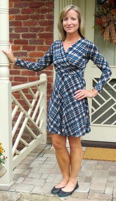 Stitch Fix Review - October 2016 - Gilli Draven Jersey Faux Wrap Dress - virginiasweetpea.com