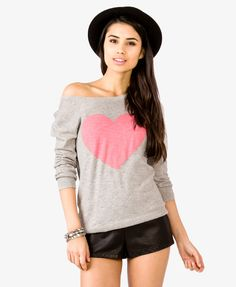 Heathered Heart Pullover