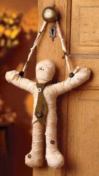 Little Mummy Door Hanger...this little mummy loves to hang around -- especially on Halloween!