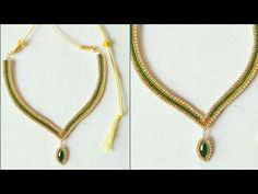 DIY || how to make silk thread designer bridal necklace with pendent at home tutorials - YouTube