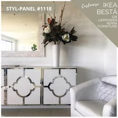 Coming soon! Stylkea is here to help Besta live up to its superlative name. Transform your IKEA Besta unit into a luxurious centrepiece. IKEA hackers live here! Ikea Furniture, Furniture Design, Furniture Ideas, Furniture Outlet, Painted Furniture, Pvc Panels, Custom Cabinetry, Better Homes, Simple Designs