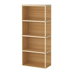 IKEA - IKEA PS 2014, Storage combination with top, bamboo/white, , Surface made from bamboo, a durable, renewable and sustainable material.