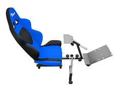 OpenWheeler Advanced Racing Seat and Stand Driving Simulator Gaming Chair with Gear Shifter Mount