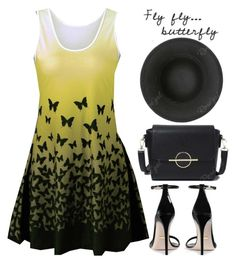 """""""Fly, fly...butterfly. Fly around the world."""" by oliverab ❤ liked on Polyvore featuring Gucci and rosegal"""