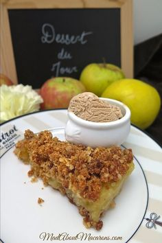 French Apple Crumble Cake with chestnut ice cream  #applecrisp #crumble #applecrumble #applecrumblepie #healthyrecipes #frenchbaking #frenchdesserts #anappleaday