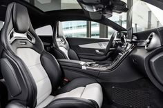 Mercedes didn't skimp on the interior, either. The seats look straight out of a race car.