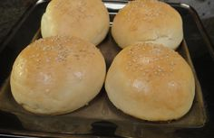 Burger Buns: Want to make burger at home? Don't carry buns from market. Step by step instructions on how to make totally fresh burger buns at home. How To Make Burgers, Baking For Beginners, Burger Buns, Bread Baking, Food Videos, Breads, Easy Meals, Sanjeev Kapoor, Cooking Recipes