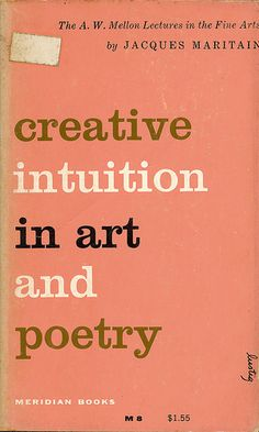 Creative Intuition in Art and Poetry cover by Alvin Lustig