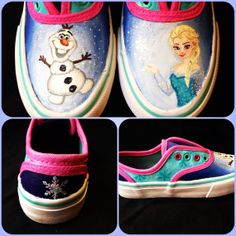 Love these shoes!!! Custom Made Hand Painted Canvas Shoes Children by MagnoliaStudios1
