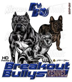 Australia Customer Breakout Bullys kennel Logo Development + T-Shirts Design Too Jeffery Cameron by Ricardo Pires